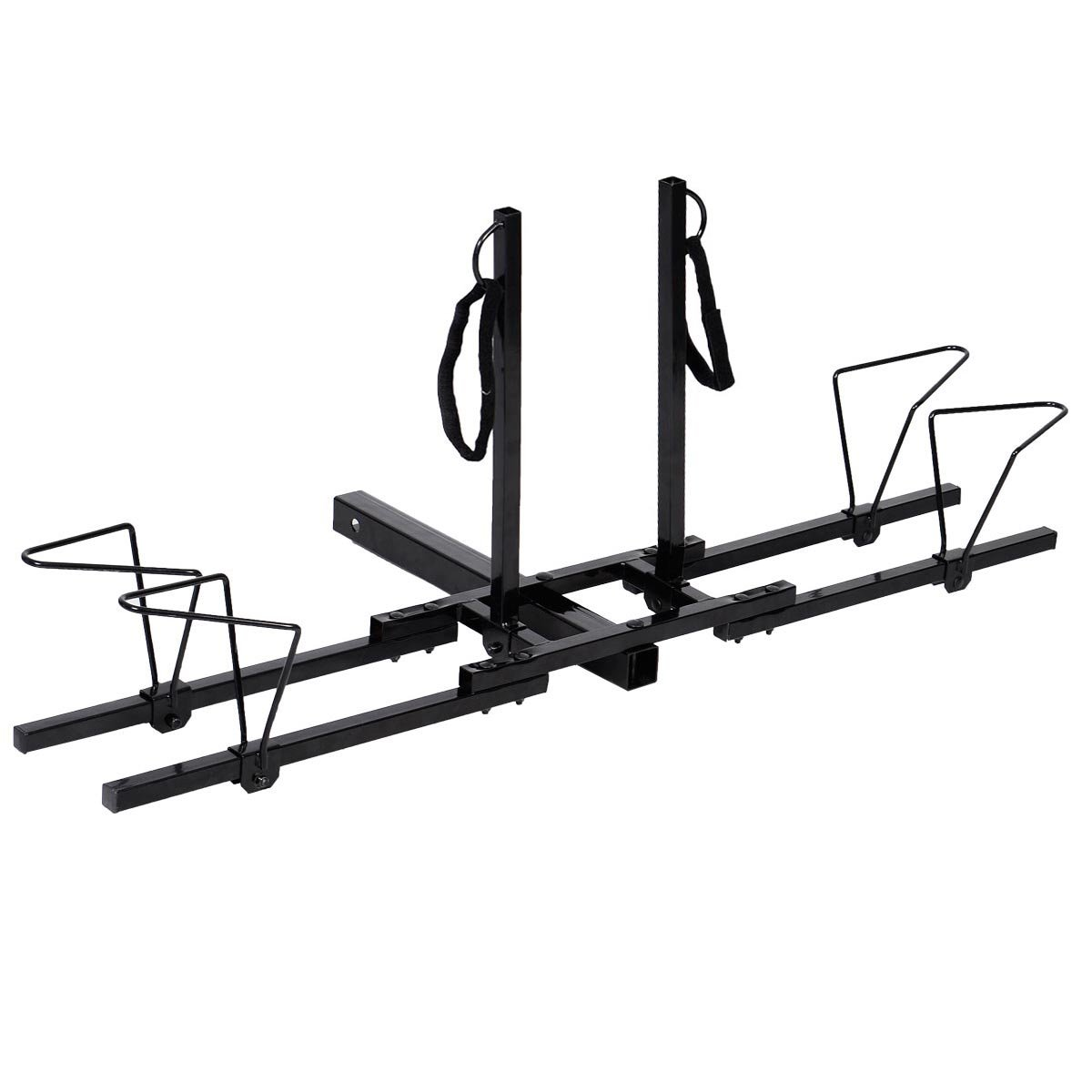 Giantex Upright Heavy Duty 2 Bike Bicycle Hitch Mount Carrier Platform Rack Truck SUV