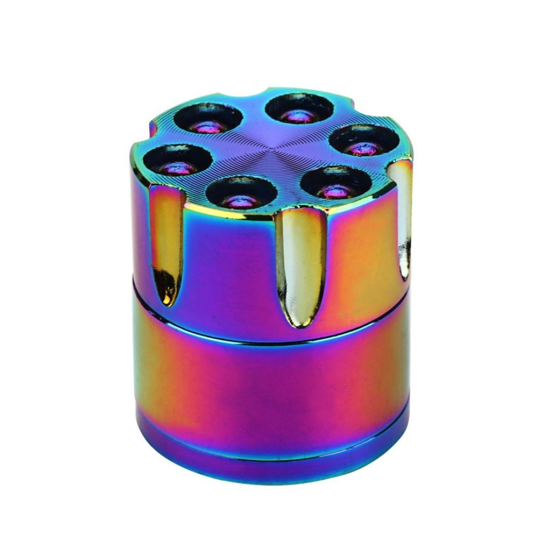 Iuhan 3-layer Aluminum Herbal Herb Tobacco Grinder Smoke Grinders (Multicolor)