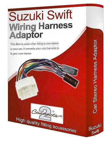 Suzuki Swift Cd Radio Stereo Wiring Harness Adapter  Amazon Co Uk  Electronics