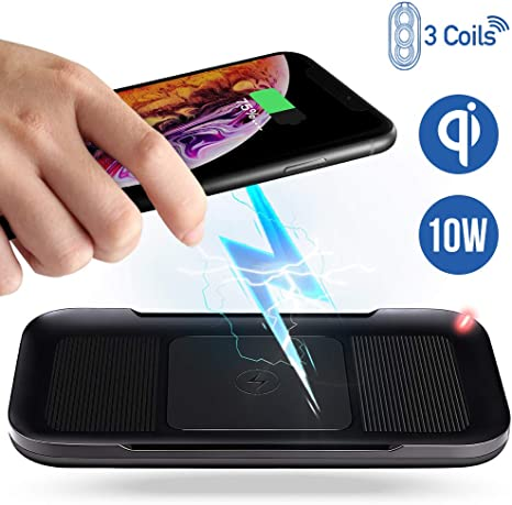 ACTOPP Caricatore Wireless 3 Bobine, Caricabatterie Wireless