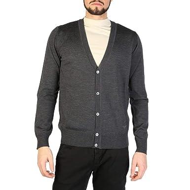 2bd21c926 Emporio Armani 01E21M Men's Cardigan Grey: Amazon.co.uk: Clothing