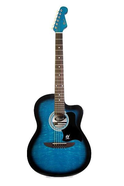 Lindo 933C Apprentice Series - Guitarra acústica (con cutaway veneciano y funda), color azul: Amazon.es: Instrumentos musicales