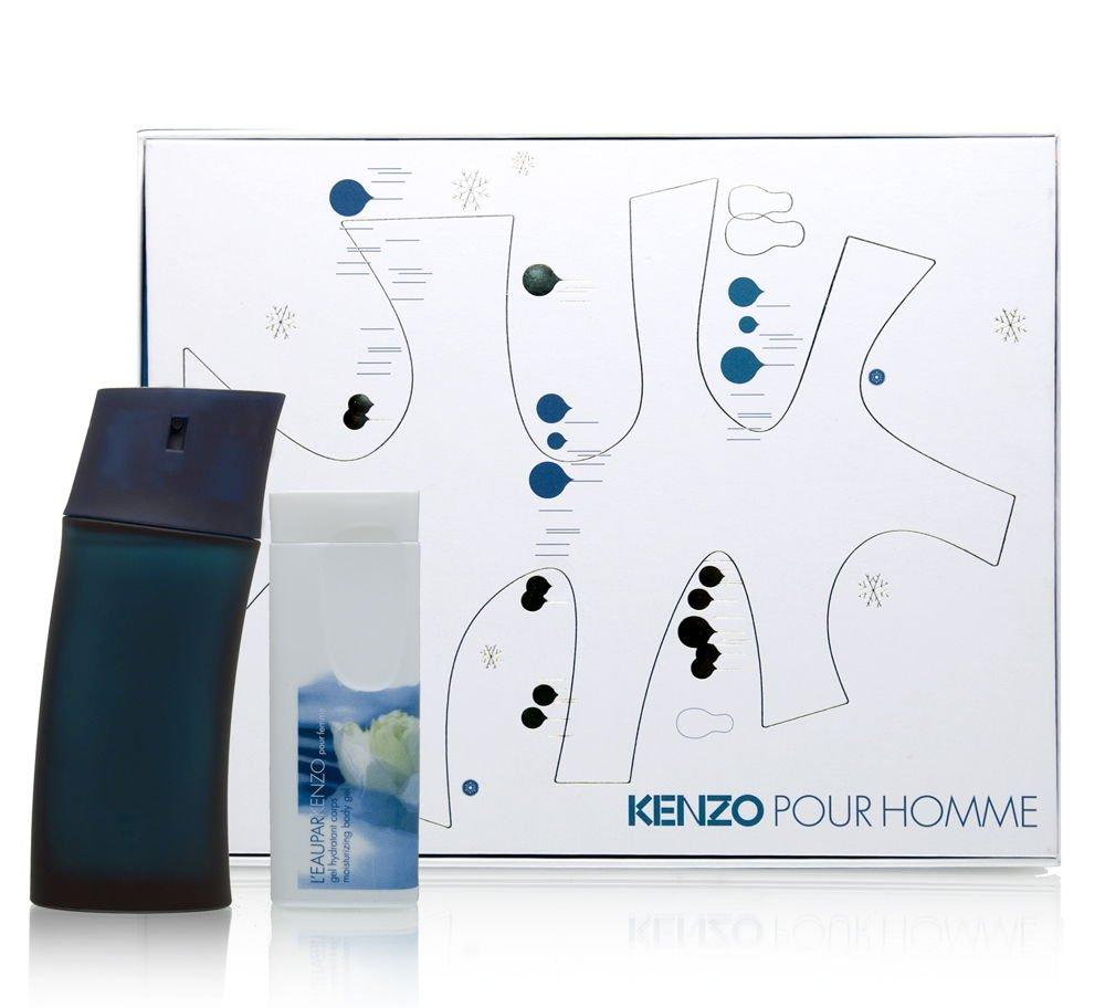 Kenzo Pour Homme by Kenzo for Men 2 Piece Set Includes: 1.7 oz Eau de Toilette Spray + 2.5 oz All Over Shower Gel