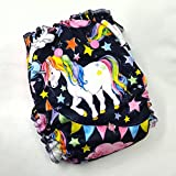 Unicorn Love - One Size (11-35#) - Waterproof AI2 Cloth Diaper by Primm n Proper Baby