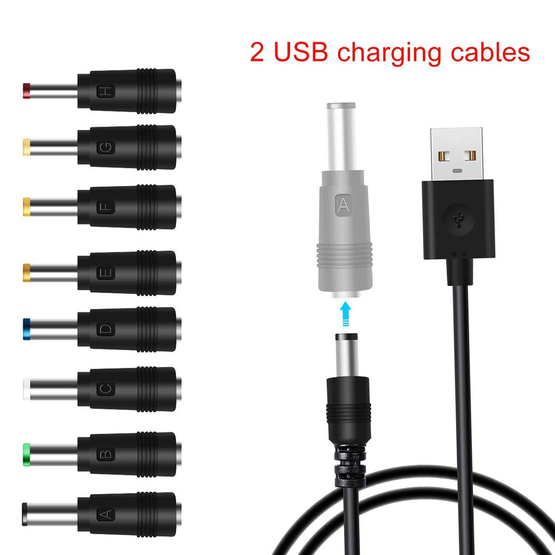 EasyULT Cable Adaptador de Cable USB a CC,8 a 1,Cable Adaptador de Cable Hueco a USB,con Conector 8,para enrutadores,computadoras port/átiles y Otros Dispositivos.
