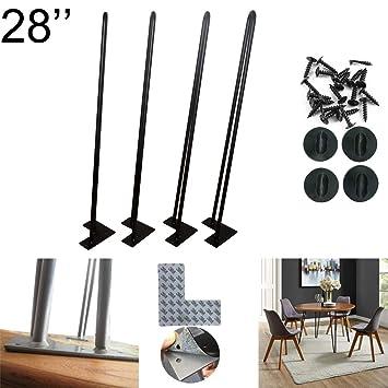 Hairpin - Juego de 4 protectores de suelo y tornillos para mesa de ...