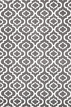 Summit S27 NEW Moroccan Gray Trellis RUG Modern Abstract Rug (4'x 5' Actual Is 3'.8'' X 5') smt#/4x5