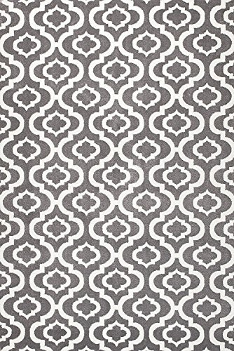 Summit S27 NEW Moroccan Gray Trellis RUG Modern Abstract Rug 22 Inch X 35 Inch Scatter Door MAT Size