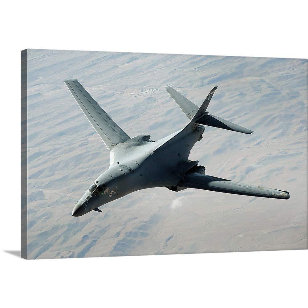Stocktrekイメージプレミアムシックラップキャンバス壁アート印刷題名A US Air Force B - 1 on a combat patrol overアフガニスタン 48