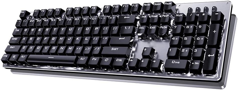 Color : A Desktop Laptop Game Keyboard//Wired USB Interface 104 Keys Keyboard Xiao Jian Mechanical Green Axis Keyboard