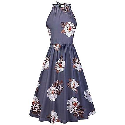 Wave166 Vestidos Cortos Mujer Sexy Mini Vestido Corto de ...