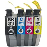 LC3111 (BK/C/M/Y)-4色セット [Brother]ブラザー 新互換インクカートリッジ残量表示付き (最新型ICチップ付き) 【A.I.S製品】
