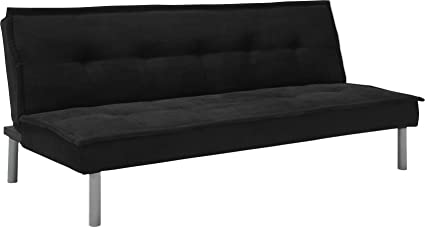 DHP Kent Convertible Microfiber Couch Bed With Sturdy Metal Legs, 600 Lbs,  Small