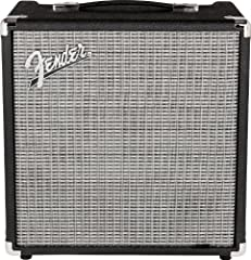 From the company that invented the electric bass amp, the Fender Rumble Series is a mighty leap forward in the evolution of portable bass amps. With its beefier power amp and larger, ported speaker enclosure, the Rumble 25 pumps volume and de...