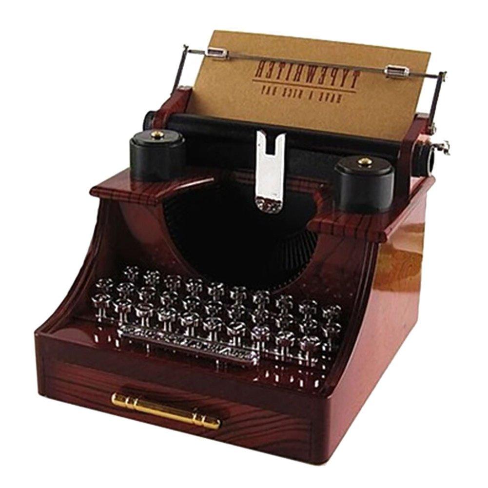 新作人気 Smartcoco Vintage Decoration Typewriter Room Music Box Creative Gifts/Home/Office Music/Study Room Decoration B06XPJ2GZJ, きもの京紅屋通販部:8a77d4af --- arcego.dominiotemporario.com