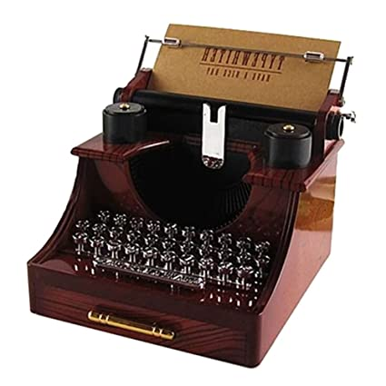 smartcoco Vintage máquina de escribir caja de música creativa regalos/casa/oficina/sala