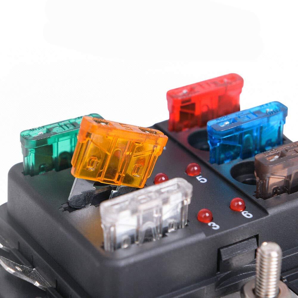 Confezione da 80 mini fusibili a lama assortiti per auto e camion con custodia e clip per fusibili