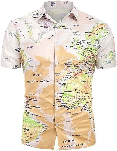 3D Camisa Hawaiana, Morbuy Hombre Manga Corta Casual Unisex 3D Camisas Playa Tops Estampada Funny Hawaii Shirt: Amazon.es: Ropa y accesorios