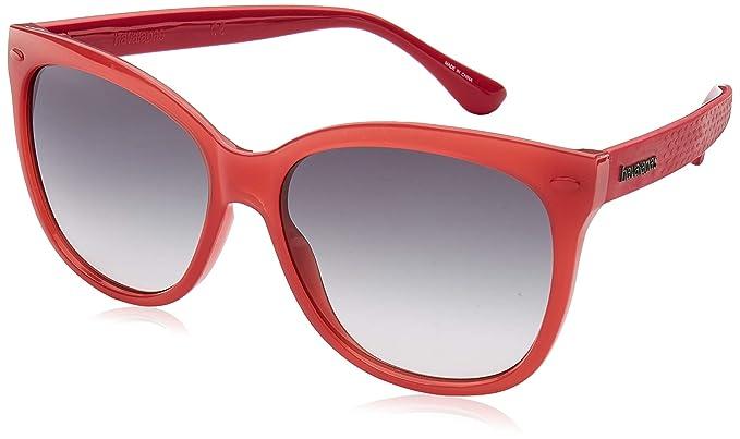 Havaianas Sahy Gafas de Sol, Multicolor (Coral), 56 para ...