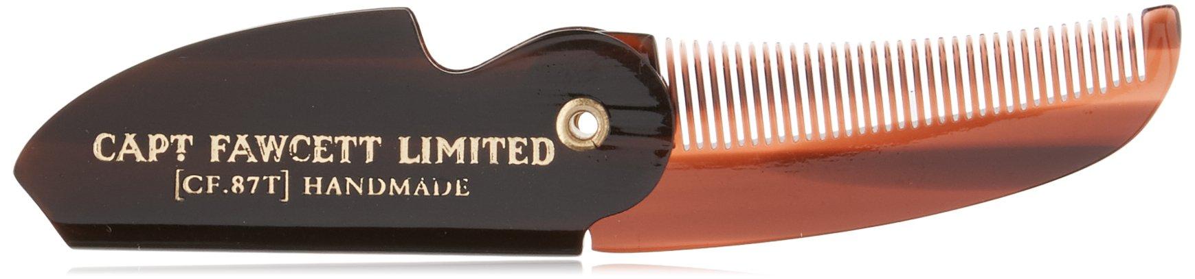 Captain Fawcett's Folding Pocket Moustache Comb - CF.87T - Made in England