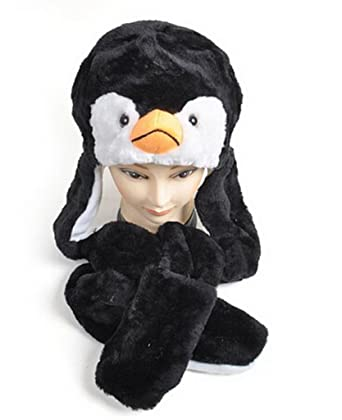 35b983b6a3f Amazon.com  ELLEN CLAY Plush Animal Winter Hats with Paws