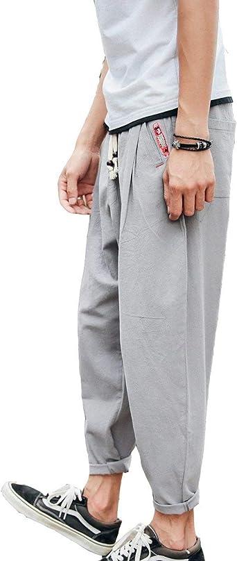 Pantalones De Lino De Hombres Pantalones Verano Modernas Casual Pantalones Largos De Tela Ropa De Lino Verano Hombres Ropa De Hombres Pantalones Sueltos Suaves Elasticos Mas Hombres Pantalones De Ocio Amazon Es Ropa