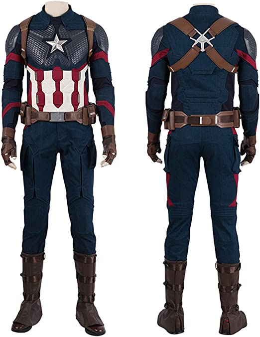 QWEASZER Marvel Avengers 4 Capitán América Combate Body Ajustado ...