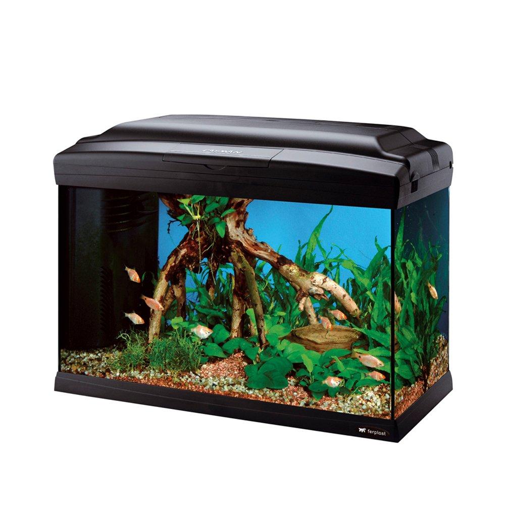 Ferplast 65051017 Cayman 50 Professional Aquarium, 52 x 27 x 38 cm, 40 L, schwarz