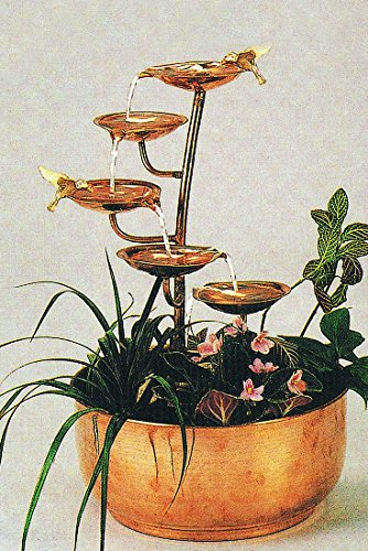 Exceptionnel Copper Five Leaf Tabletop Fountain