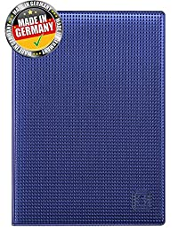 OPTEXX® RFID Blocking Passport Cover Blue Grid with OPTEXX® Protection; Made in Germany