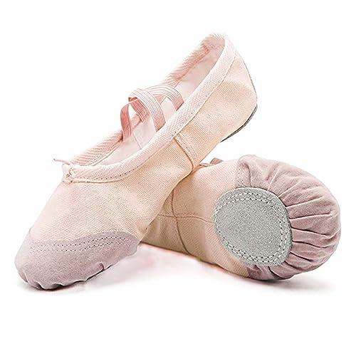 5a1d7e7aa4ba DoGeek Ballet Shoes for Girls Practise Ballet Slipper Dance Shoe Canvas  Split Sole Ballet Shoes for