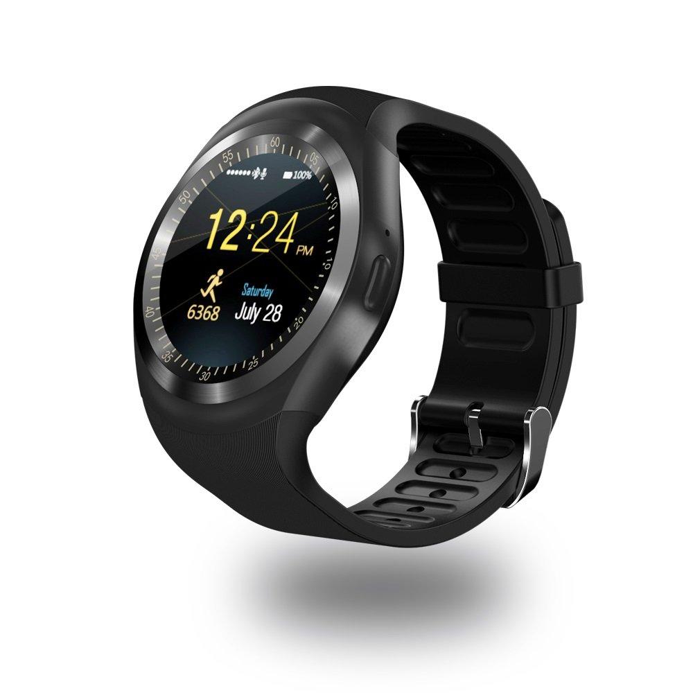 Efanr Y1 redondo Bluetooth reloj inteligente, pantalla táctil ...