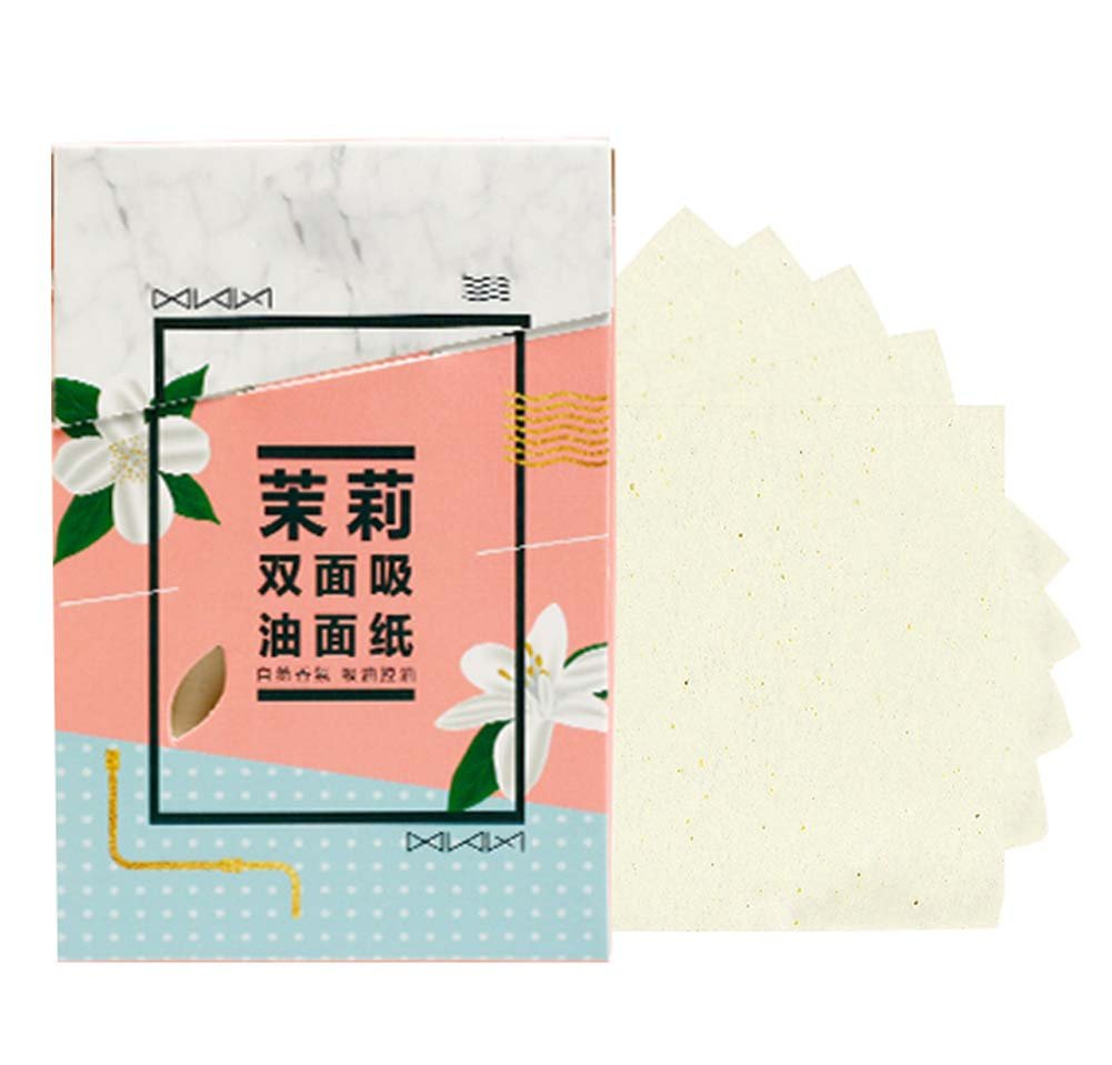 Men Women Summer Oil Control Blotting Paper Skin Blotting Paper 300 Sheets, Jasmine Scent Koala Superstore