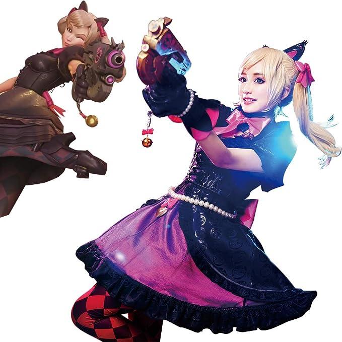 Amazon.com: Overwatch Dva Black Cat D.Va Lolita Vestido ...