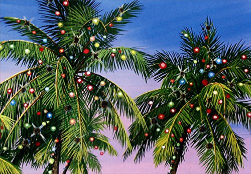 Palm Tree Lights - Red Farm Studios Warm Weather Box of 18 Christmas Cards