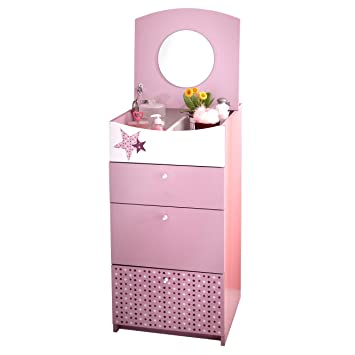 Bilira Create Your Home Kinderkommode Prinzessin Schminkschrank