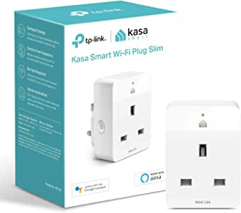 Kasa Mini Smart Plug by TP-Link, WiFi Outlet,Works with Amazon Alexa(Echo and Echo Dot), Google Home and Samsung SmartThings, Wireless Smart Socket Remote Control Timer Switch, No Hub Required(KP105)