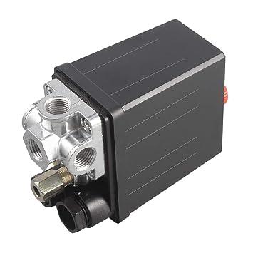 Jinxuny Válvula de Servicio Pesado del Control del Interruptor de presión del compresor de Aire 90 PSI -120 PSI para la Bomba de Aire: Amazon.es: Hogar