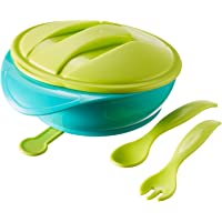 Tommee Tippee Suction Bowl with Travel Lid and Cutlery