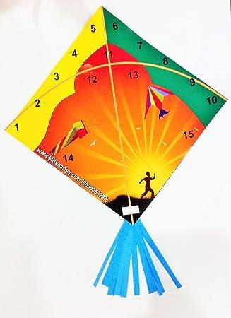 Kitty Partyy Kites Theme Tambola Tickets (Multicolour)