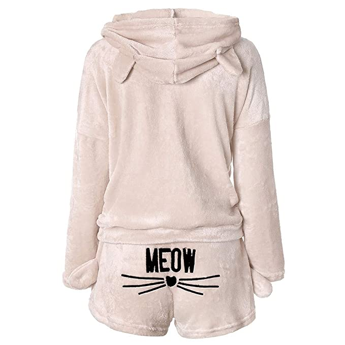 Amazon.com: Traje de pijama de forro polar con capucha y ...