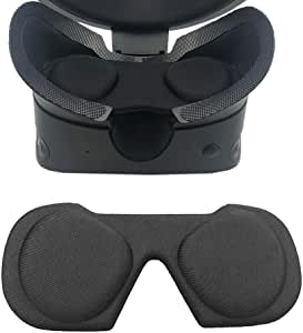 Esimen VR Lens Cover for Oculus Rift S/Oculus Quest 2 Lens Protector Dustproof Washable Protective Sleeve (Black)