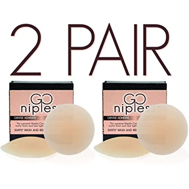 3892a0c3402 Go Nipless Self Adhesive Silicone Nipplecovers Pasties - Size A-DD Womens Bra  Nipple Covers