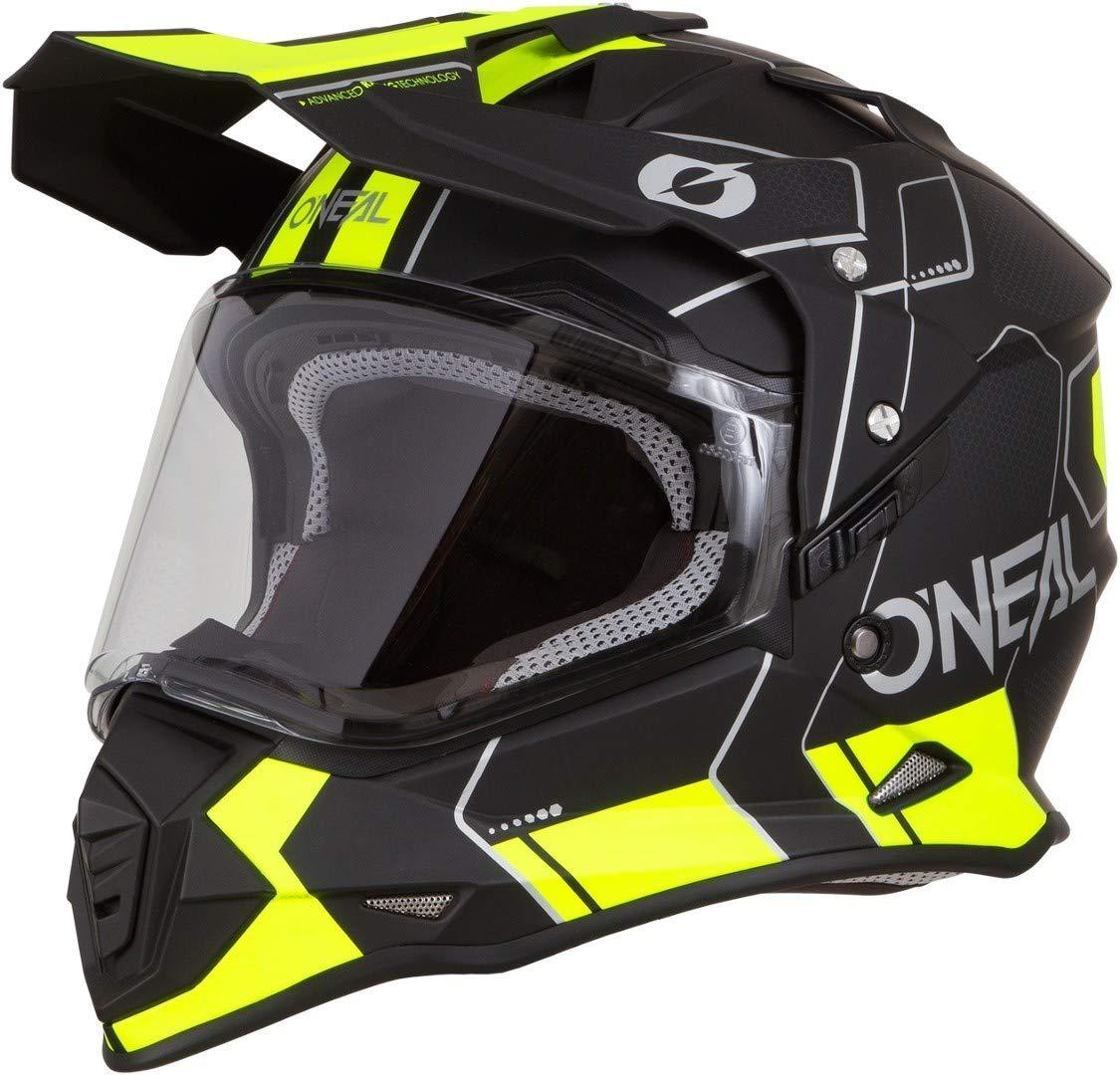 O Neal Sierra IiヘルメットコームMXヘルメットLブラック/ネオンイエロー   B07FD7F2W6
