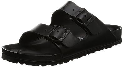 5b827cab00e8 Image Unavailable. Image not available for. Color  Birkenstock Unisex  Arizona Essentials EVA Black Sandals ...