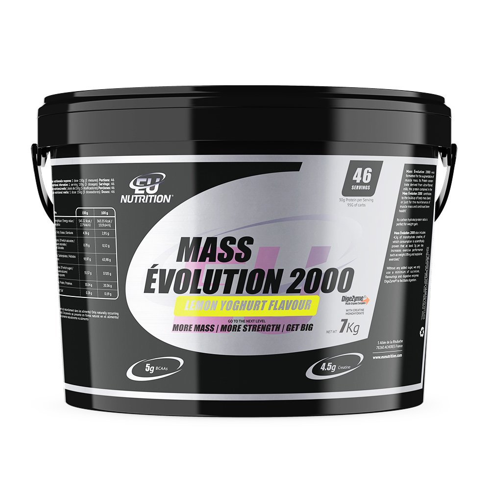EU Nutrition Mass Évolution 2000 Lemon Yogurt - 7000 gr ...