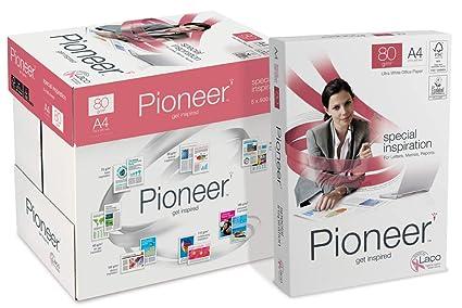 PIONEER - Papel premium para impresora 2500 folios 80 g/m2
