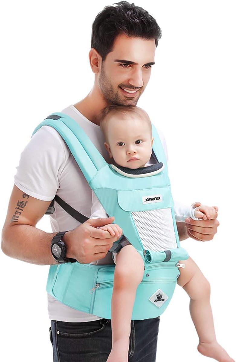 SONARIN Porte-b/éb/é Hipseat Multifonctionnel,Sangles respirantes,Ergonomique,Rangement /à grande capacit/é,11 positions de transport,Adapt/é /à la croissance de votre enfant,cadeau id/éal Lac Bleu