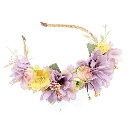 JZK® Wedding flower girl bridesmaid bride daisy flower headband tiara for  girl   woman bridal hairband floral garland headpiece 62b47ad3161