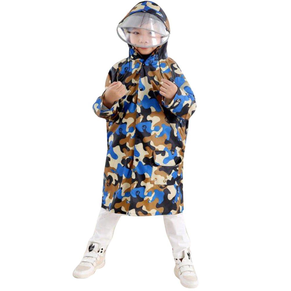 Juleya bambini Camouflage Poncho con grande cappello e zaino Luogo Bambino Raincoat Juleya Network Technology Ltd N160505MC-J